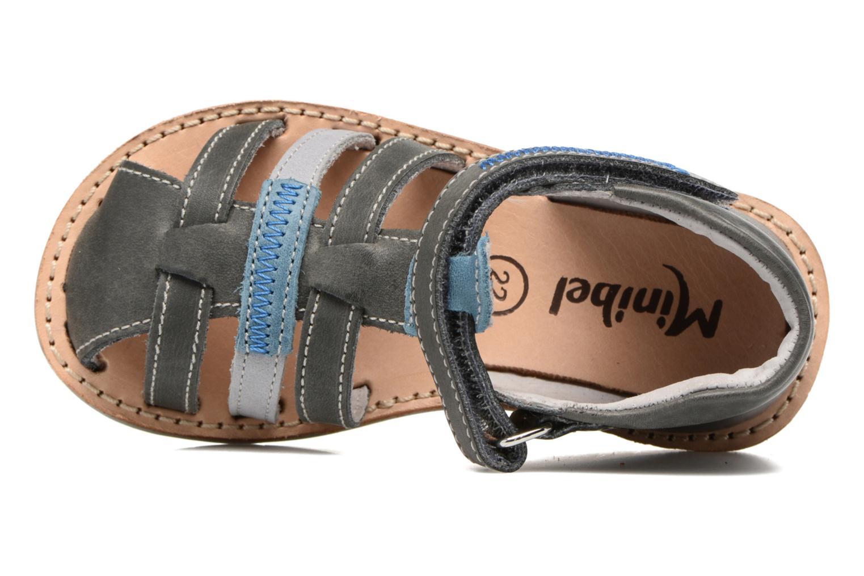 Sandales et nu-pieds Minibel Matchy Bleu vue gauche