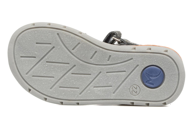 Sandales et nu-pieds Minibel Matchy Bleu vue haut