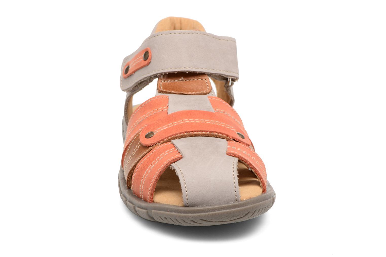 Sandales et nu-pieds Minibel Mike Gris vue portées chaussures