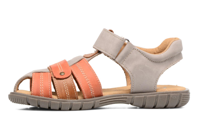 Sandales et nu-pieds Minibel Mike Gris vue face