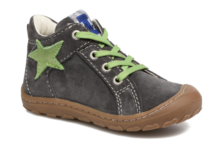 Zapatos con cordones Lurchi by Salamander Goldy Suede Gris vista de detalle / par