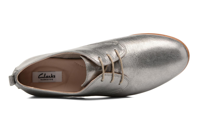 Chaussures à lacets Clarks Alania Posey Gris vue gauche