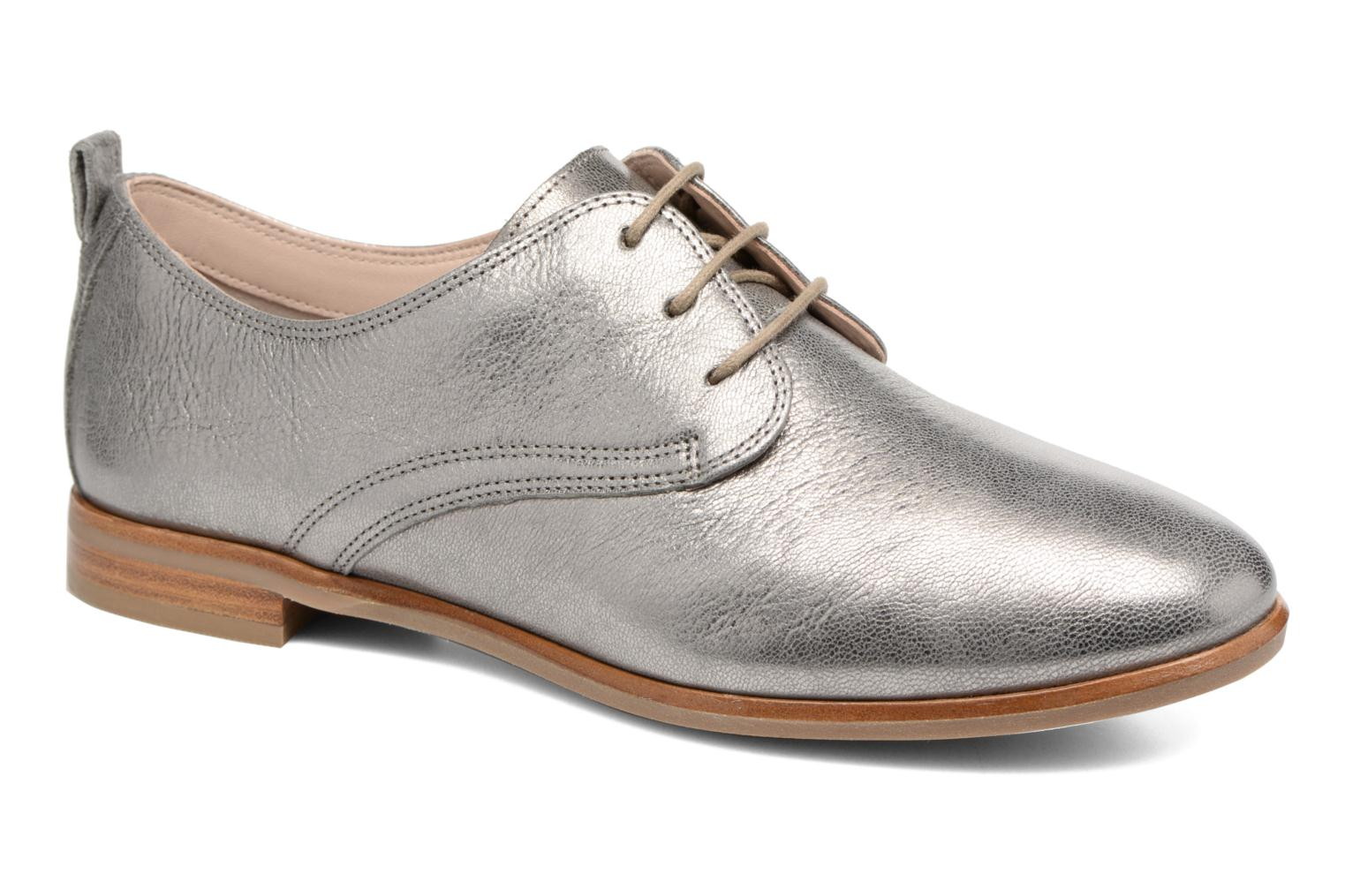 Lace-up shoes Clarks Alania Posey Grey detailed view/ Pair view