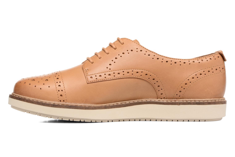 Chaussures à lacets Clarks Glick Shine Marron vue face