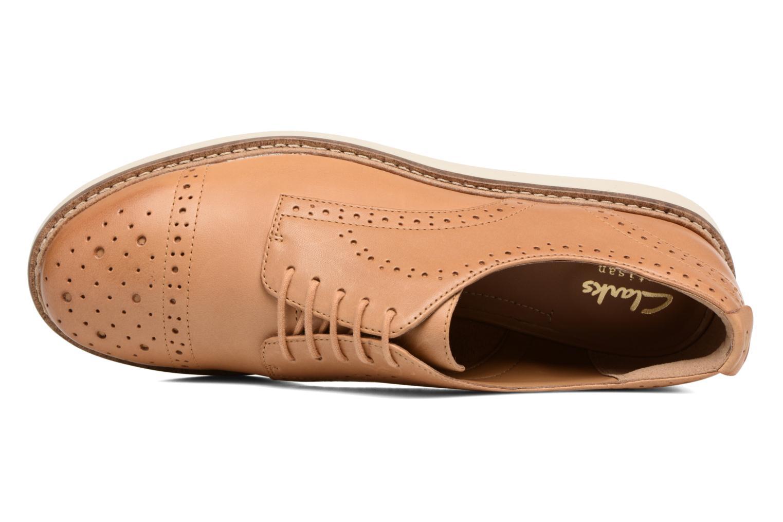 Chaussures à lacets Clarks Glick Shine Marron vue gauche