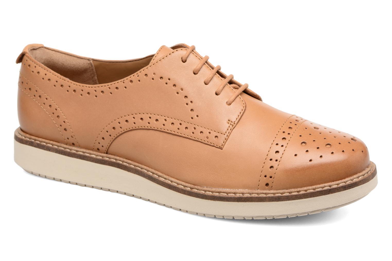 Chaussures à lacets Clarks Glick Shine Marron vue détail/paire