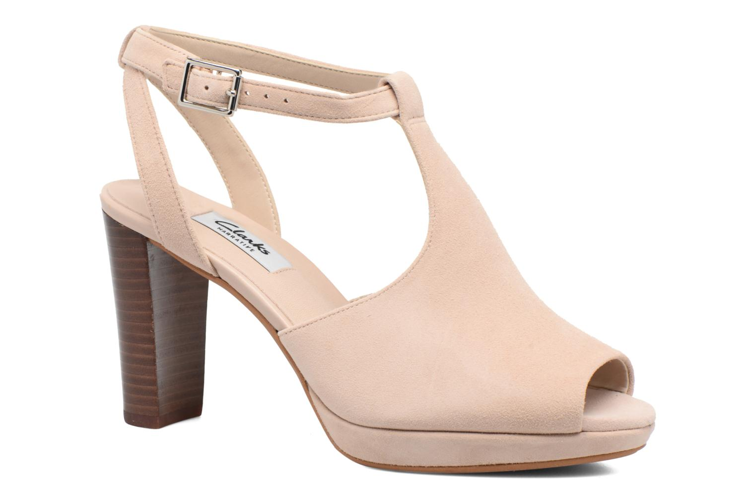 High heels Clarks Kendra Charm Pink detailed view/ Pair view