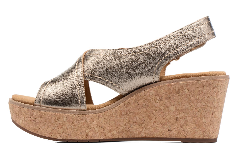 Sandales et nu-pieds Clarks Aisley Tulip Or et bronze vue face