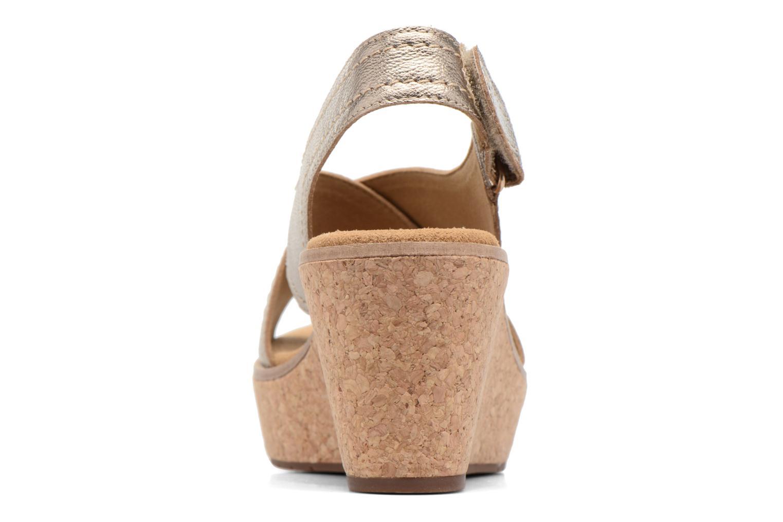 Sandales et nu-pieds Clarks Aisley Tulip Or et bronze vue droite