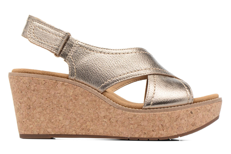 Sandales et nu-pieds Clarks Aisley Tulip Or et bronze vue derrière