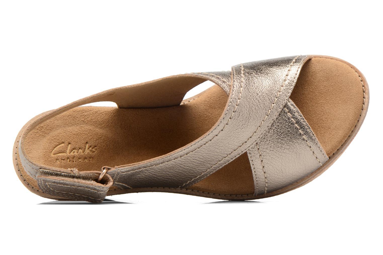 Sandales et nu-pieds Clarks Aisley Tulip Or et bronze vue gauche