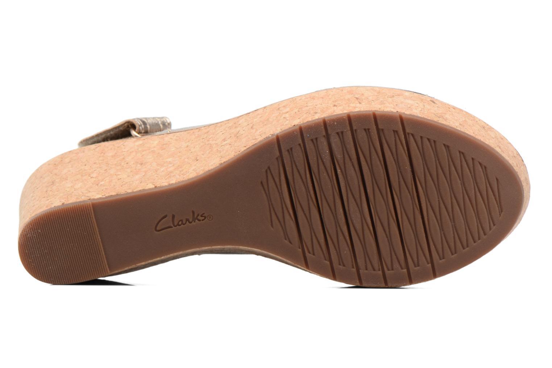 Sandales et nu-pieds Clarks Aisley Tulip Or et bronze vue haut