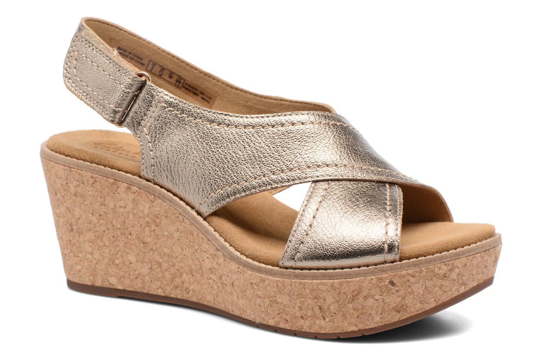 Sandales et nu-pieds Clarks Aisley Tulip Or et bronze vue détail/paire