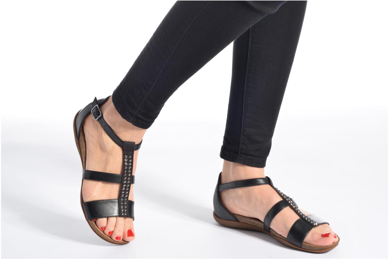 Sandales et nu-pieds Clarks Autumn Fresh Gris vue bas / vue portée sac