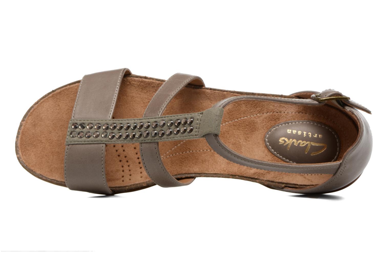 Sandales et nu-pieds Clarks Autumn Fresh Gris vue gauche