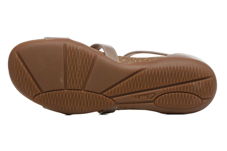 Sandales et nu-pieds Clarks Autumn Fresh Gris vue haut