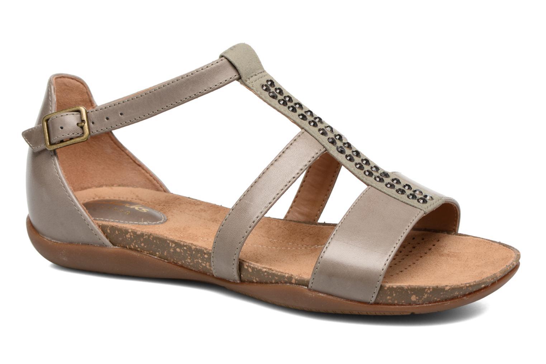 Sandales et nu-pieds Clarks Autumn Fresh Gris vue détail/paire