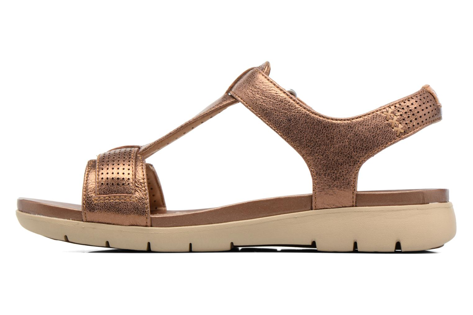 Sandals Clarks Unstructured Un Haywood Brown front view