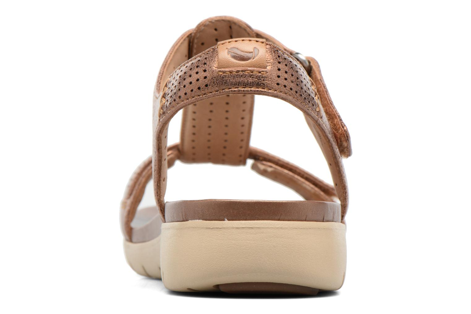 Sandals Clarks Unstructured Un Haywood Brown view from the right