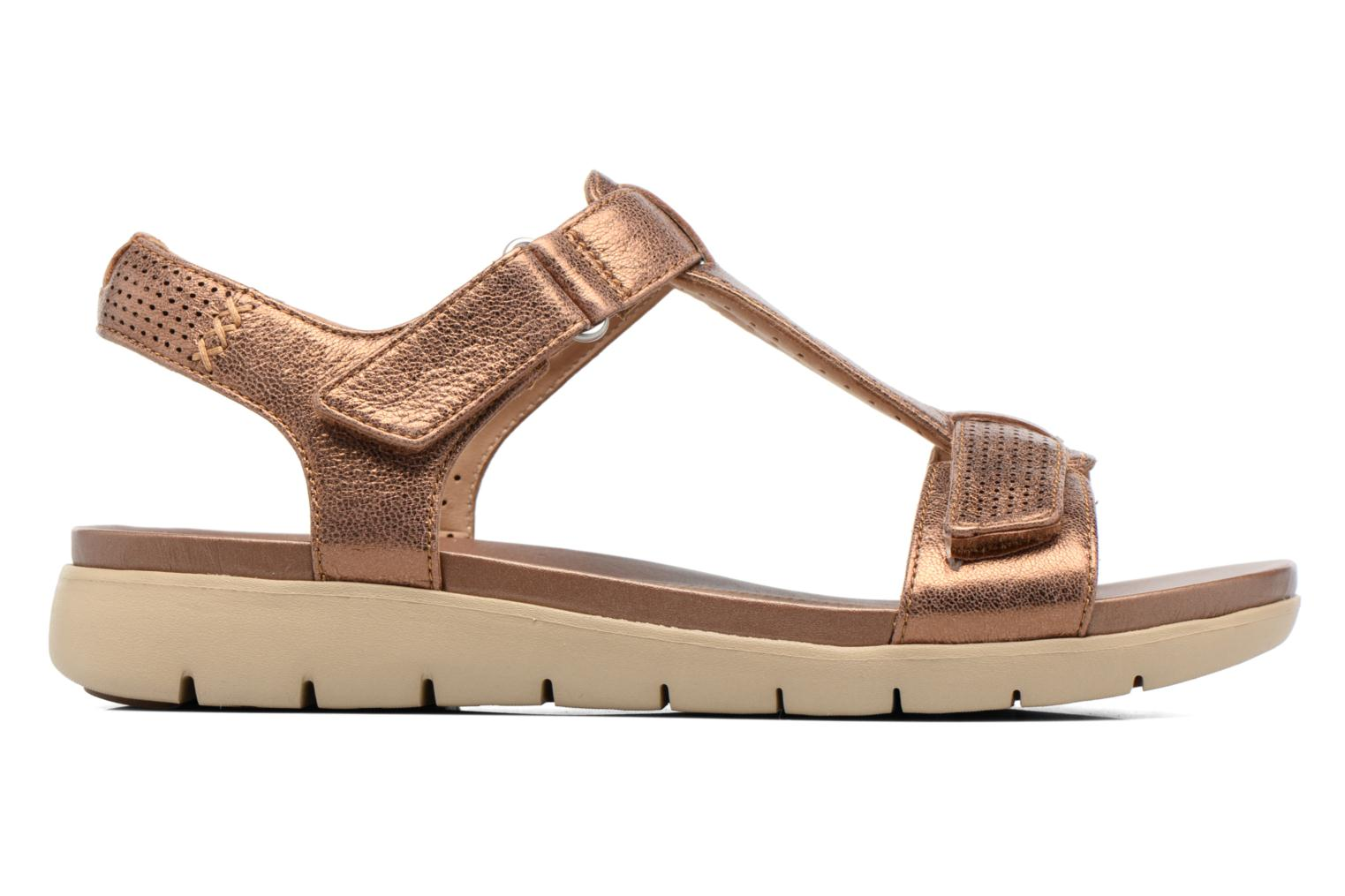Sandals Clarks Unstructured Un Haywood Brown back view
