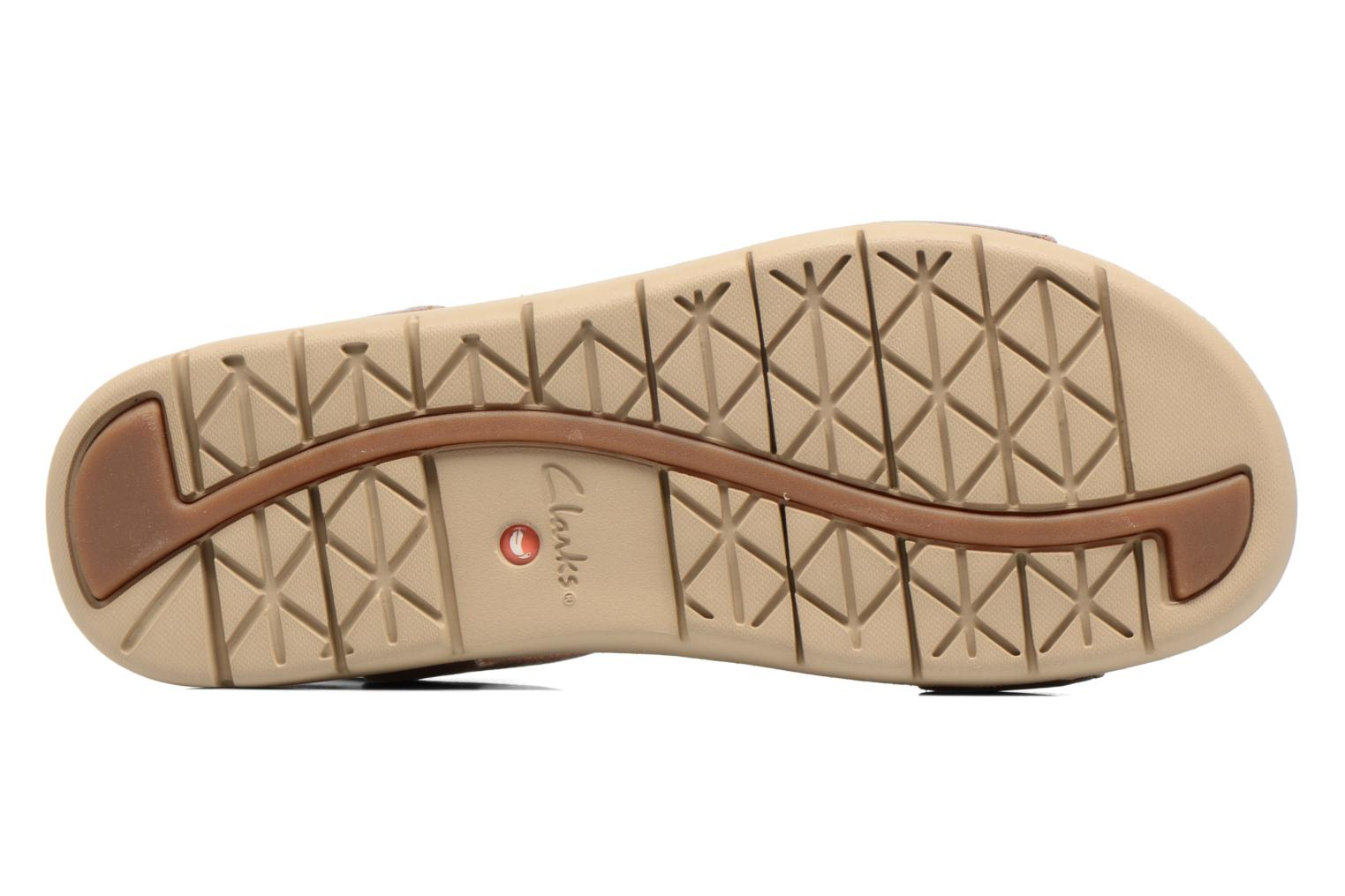 Sandals Clarks Unstructured Un Haywood Brown view from above
