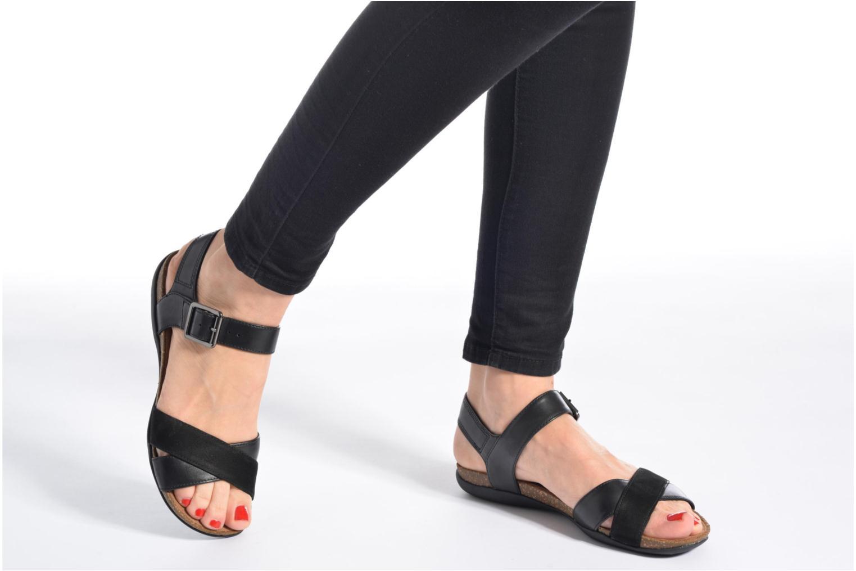 Sandales et nu-pieds Clarks Autumn Air Noir vue bas / vue portée sac