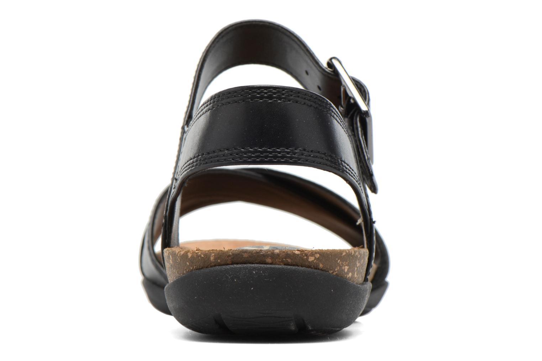 Sandales et nu-pieds Clarks Autumn Air Noir vue droite