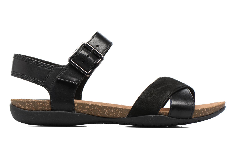 Sandales et nu-pieds Clarks Autumn Air Noir vue derrière
