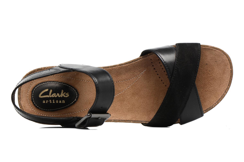 Sandales et nu-pieds Clarks Autumn Air Noir vue gauche