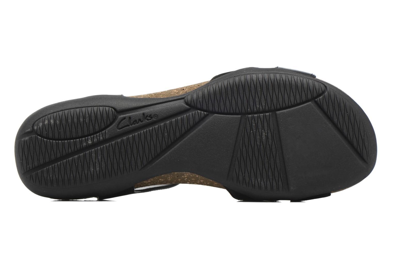 Sandales et nu-pieds Clarks Autumn Air Noir vue haut