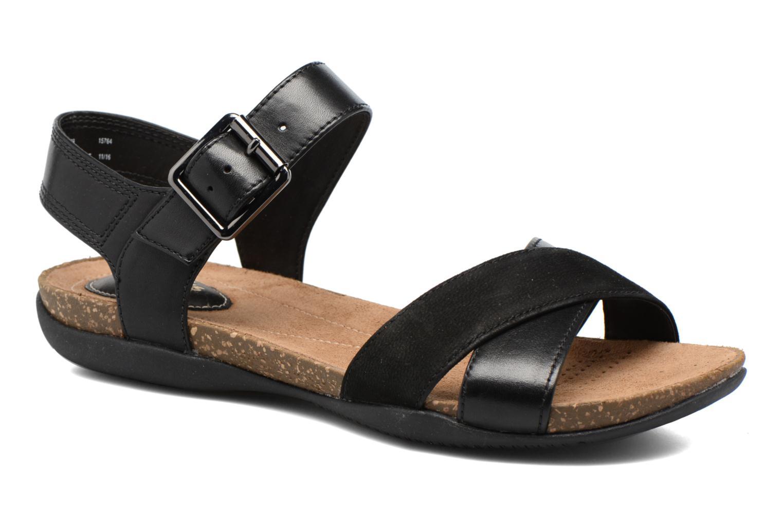 Sandales et nu-pieds Clarks Autumn Air Noir vue détail/paire