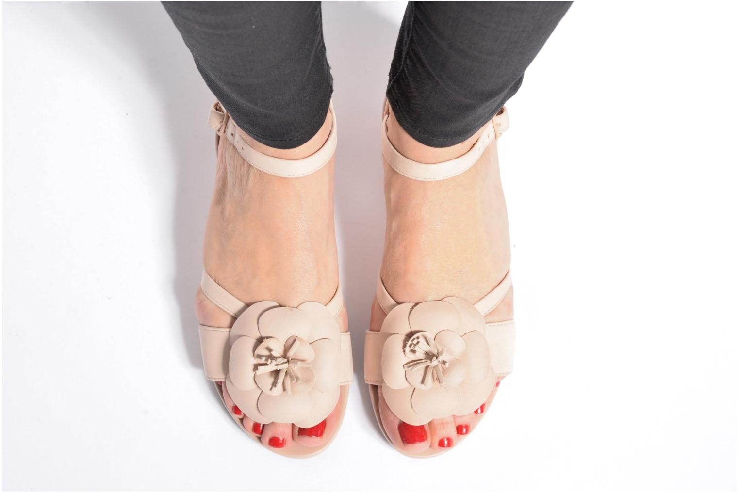 Sandals Clarks Parram Stella Pink view from underneath / model view