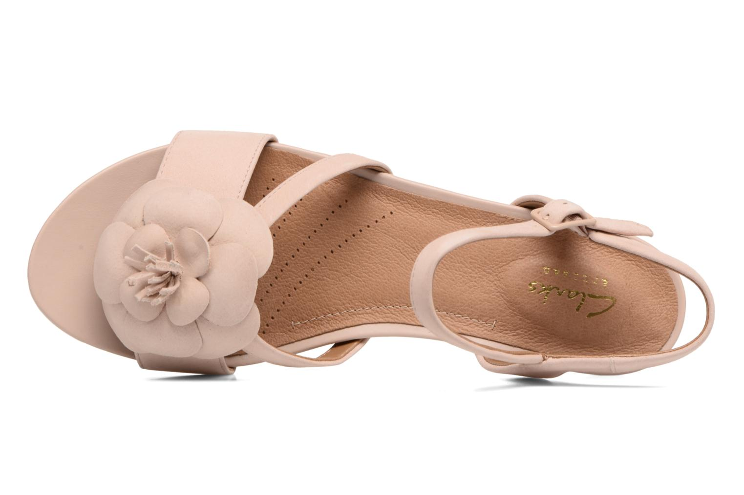 Sandals Clarks Parram Stella Pink view from the left