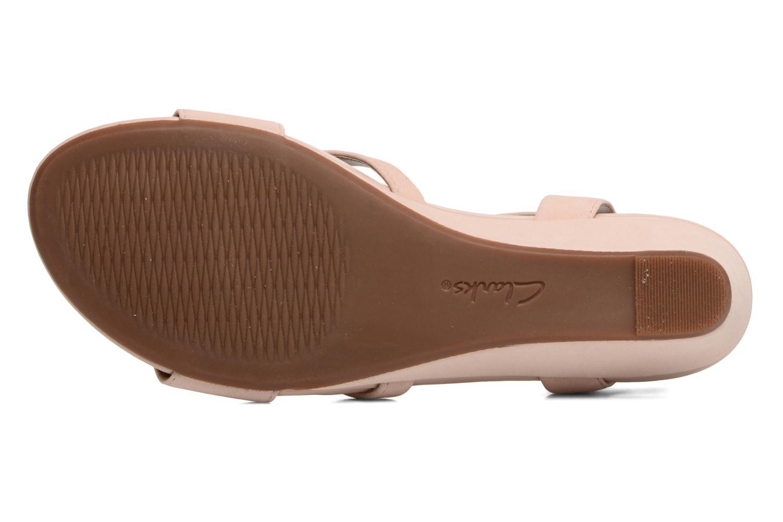 Sandales et nu-pieds Clarks Parram Stella Rose vue haut