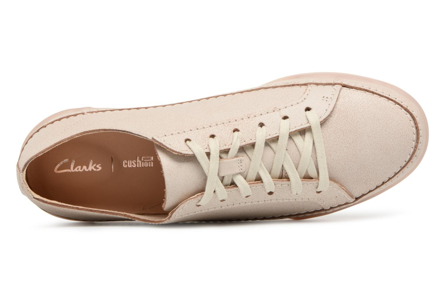 Trainers Clarks Hidi Holly Beige view from the left