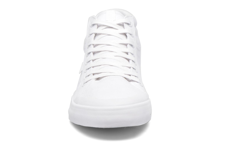 Baskets DC Shoes Evansmith Hi Tx M Blanc vue portées chaussures