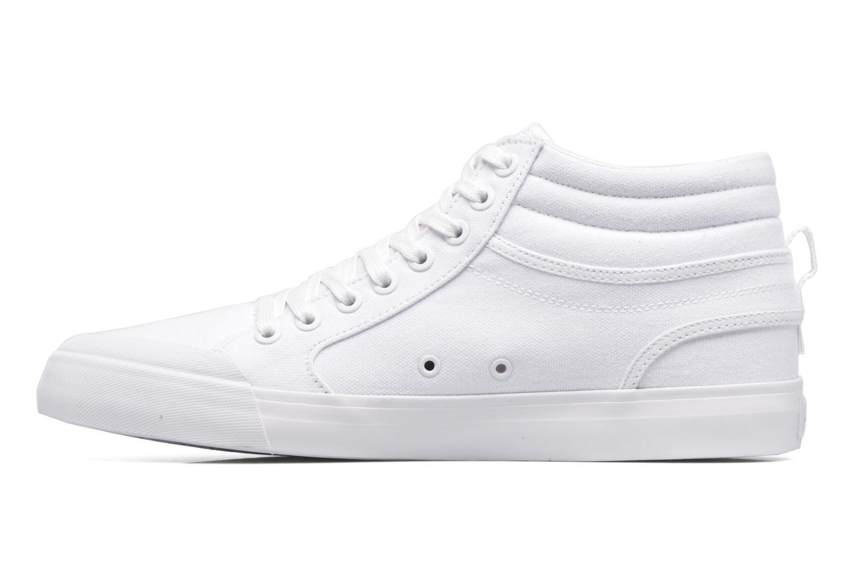 Baskets DC Shoes Evansmith Hi Tx M Blanc vue face