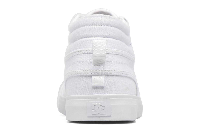 Baskets DC Shoes Evansmith Hi Tx M Blanc vue droite