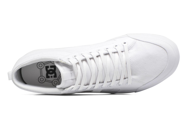 Baskets DC Shoes Evansmith Hi Tx M Blanc vue gauche