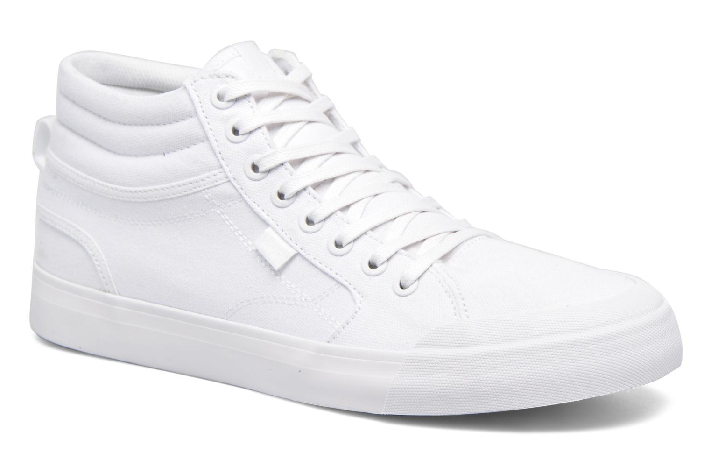 Baskets DC Shoes Evansmith Hi Tx M Blanc vue détail/paire