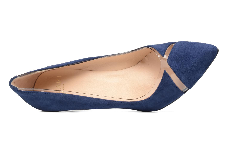Escarpins Anaki Georgia Bleu vue gauche