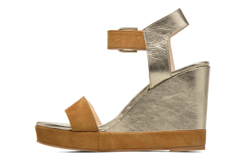 Sandales et nu-pieds Anaki Wave Or et bronze vue face