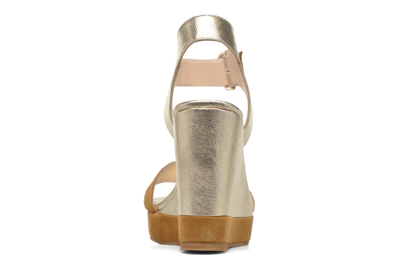 Sandales et nu-pieds Anaki Wave Or et bronze vue droite