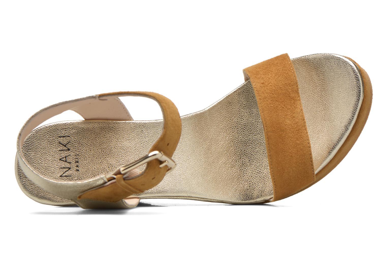 Sandales et nu-pieds Anaki Wave Or et bronze vue gauche