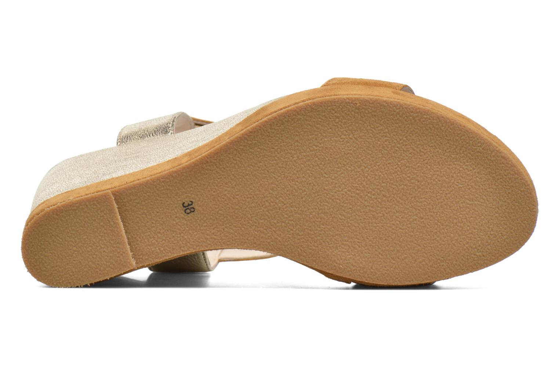 Sandales et nu-pieds Anaki Wave Or et bronze vue haut
