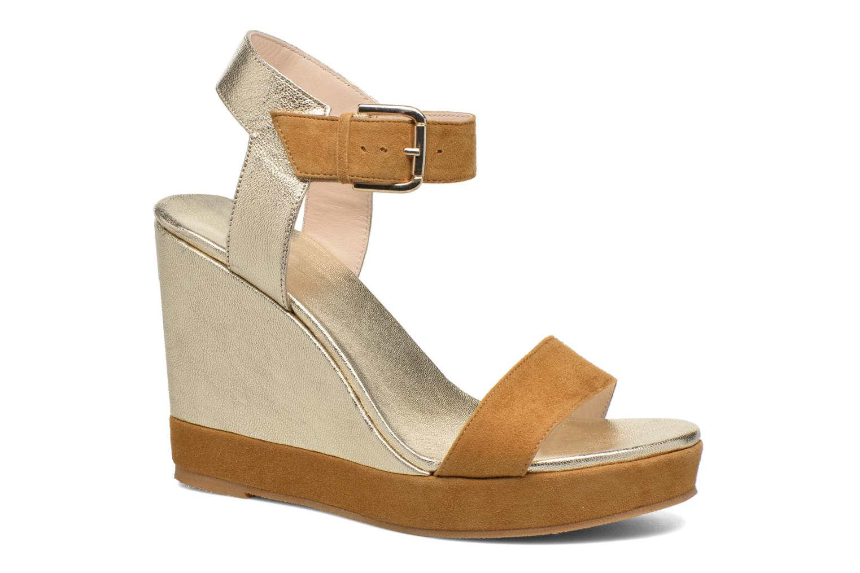 Sandales et nu-pieds Anaki Wave Or et bronze vue détail/paire