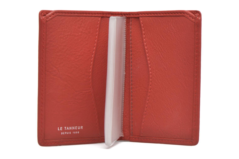 Petite Maroquinerie Le Tanneur VALENTINE Porte-cartes anti-RFID Rouge vue derrière