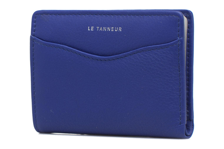 Kleine lederwaren Le Tanneur VALENTINE Porte-cartes anti-RFID Blauw voorkant