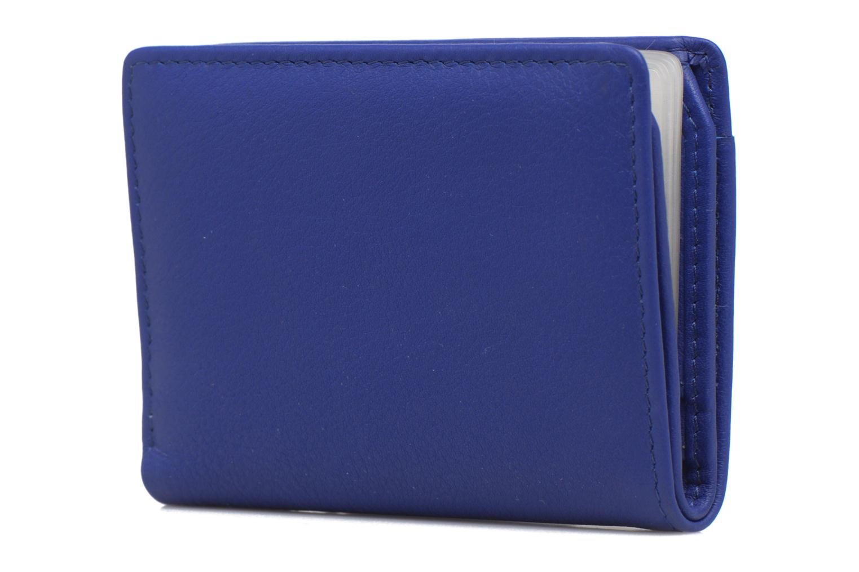 Kleine lederwaren Le Tanneur VALENTINE Porte-cartes anti-RFID Blauw links