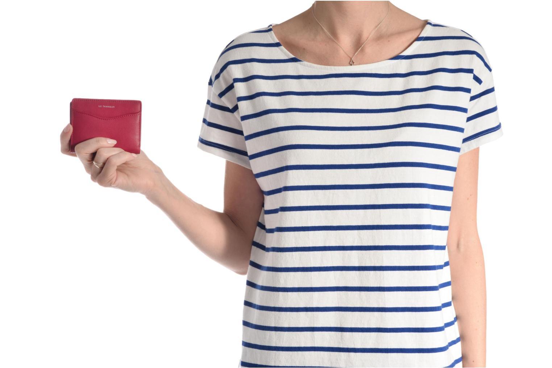 Kleine lederwaren Le Tanneur VALENTINE Porte-cartes anti-RFID Blauw boven